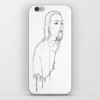 Ink Possessed Melting Girl iPhone & iPod Skin