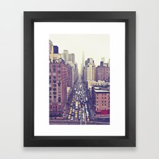 flying over first... (colour) Framed Art Print
