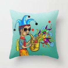 SaxoFunk Throw Pillow