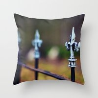 St. Louis Fleur De Lis F… Throw Pillow