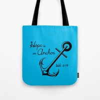 Hope Is An Anchor Tote Bag