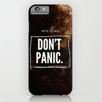 iPhone & iPod Case featuring Don't Panic by Graham Ferguson