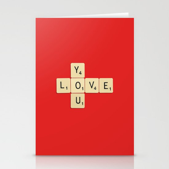 Love You Stationery Card