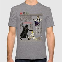 Hero-glyphics: The Force Mens Fitted Tee Tri-Grey SMALL