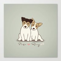 Pogo and Roxy Canvas Print