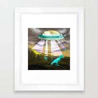 Aliens do exist - dino exctinction event Framed Art Print