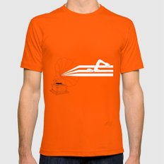 Swimming in Sound Mens Fitted Tee Orange SMALL