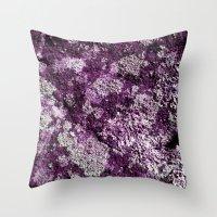 Purple Moss Throw Pillow
