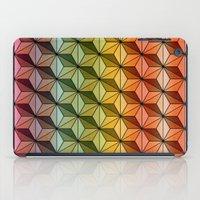 Wooden Asanoha Colorful iPad Case
