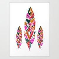 Brooklyn Feathers Art Print