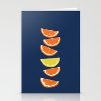 Citrus Tip - Indigo & Ta… Stationery Cards