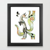 Mechanical Fox Framed Art Print