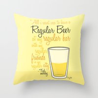 Tv Drink Quotes [how I M… Throw Pillow