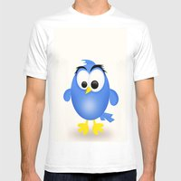 Birdie Mens Fitted Tee White SMALL