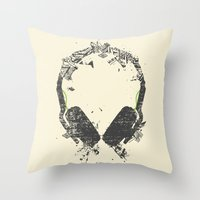 Art Headphones V2 Throw Pillow