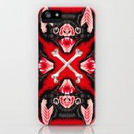 Vampire Bat Face Geometr… iPhone (5, 5s) Slim Case
