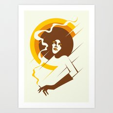Retropolitan (warm) Art Print