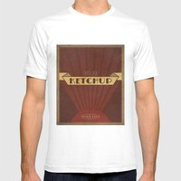Fancy Ketchup Mens Fitted Tee White SMALL