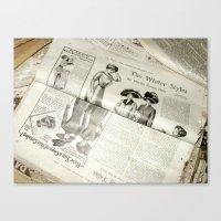Old Vintage Newspaper Le… Canvas Print
