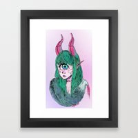 Cyclops With Fur Framed Art Print