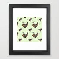 Green Hummingbirds Framed Art Print