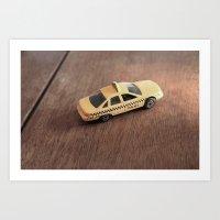 Mini Cab Art Print