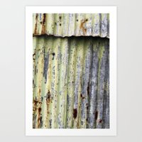 the crack Art Print