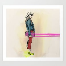 never hate neon color Art Print