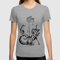 A Dragon From Your Subco… Womens Fitted Tee Athletic Grey SMALL