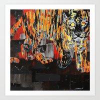 Tiger At Night Art Print