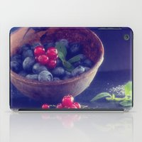 Dark blue berries contrasting with bright red berries iPad Case