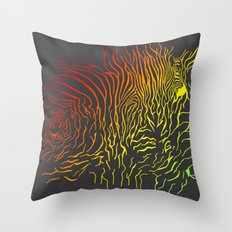 Tiger and zebra Throw Pillow