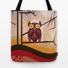 Red Owl at Dusk Tote Bag