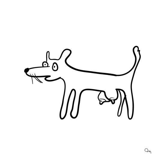 Tit-Dog Art Print