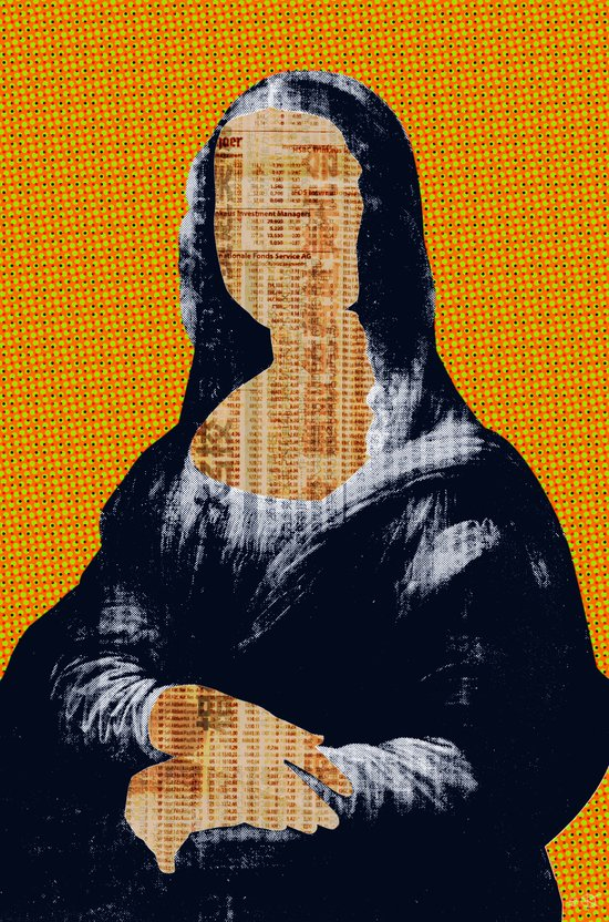 Mona Lisa · yellow press Art Print