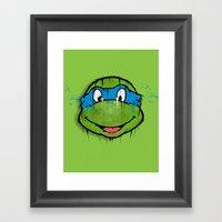 TURTLE POWER (NINJA TURT… Framed Art Print