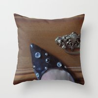 Rhinestoned Right Shoe Throw Pillow