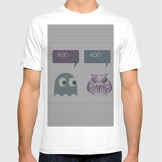 boo! SMALL White Mens Fitted Tee
