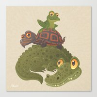 Swamp Squad Canvas Print