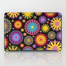 Bright And Colorful Flowers iPad Case