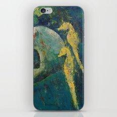 Yellow Seahorses iPhone & iPod Skin