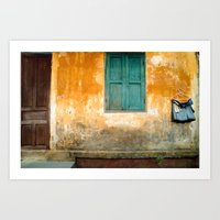 Antique Chinese Wall - V… Art Print