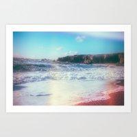 California Sunshine Waves Art Print