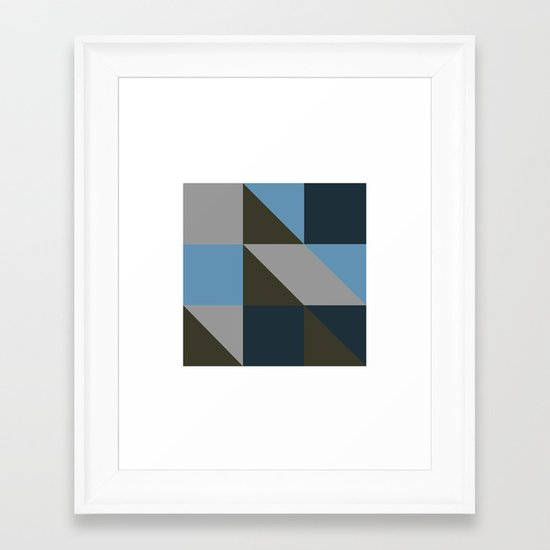 #149 United shapes of geometry – Geometry Daily Framed Art Print