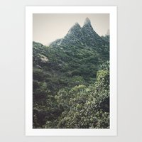 Hawaii Mountain Art Print