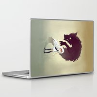 anime Laptop & iPad Skins featuring Werewolf by Freeminds