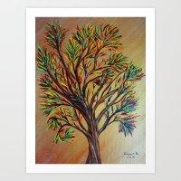 Tree/semi Abstract Art Print