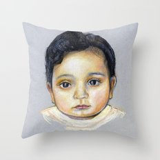 R-Portrait  Throw Pillow