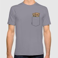 Pockets - Macklemore - Mens Fitted Tee Slate SMALL