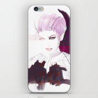 Ethno fashion illustration iPhone & iPod Skin